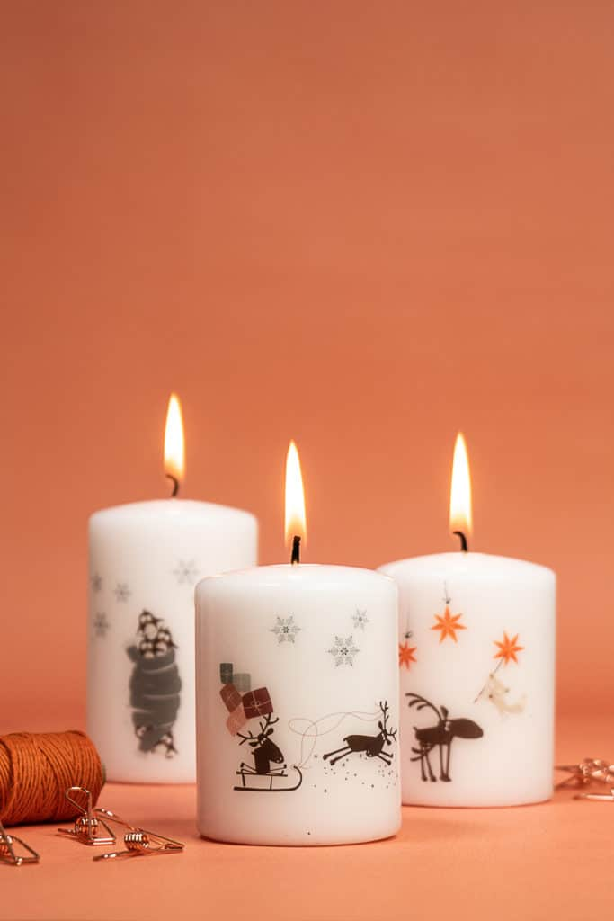 mit Rubbeltattoos Kerzen verzieren